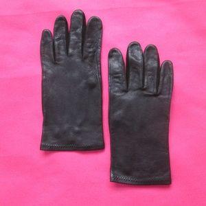 vintage black deerskin leather gloves size 7